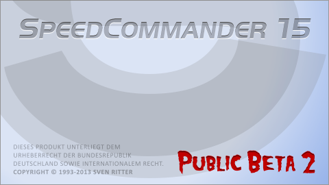 Startbildschirm SC15 (Beta 2)