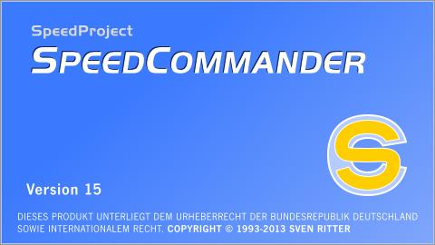 SpeedCommander 15 - Startbildschirm