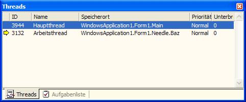 Threadanzeige mit angepassten Namen (.NET)