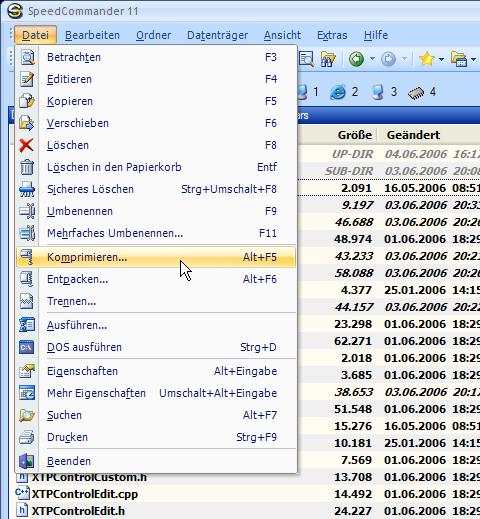 SpeedCommander im Office 2007-Look