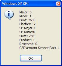 GetWindowsVersion