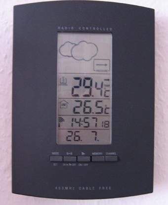Aktuelle Temperatur