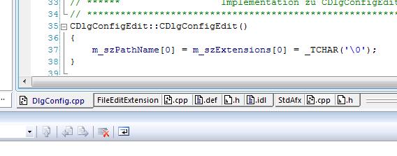 Tabs in Visual Studio 2008