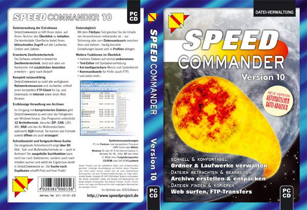 Cover für SpeedCommander 10
