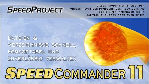 Startbildschirm von SpeedCommander 11