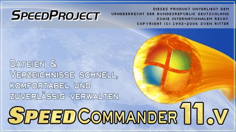 Startbildschirm von SpeedCommander 11.5