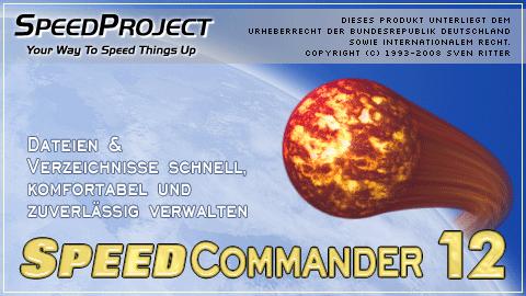 Startbildschirm von SpeedCommander 12