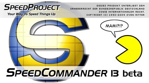 Startbildschirm von SpeedCommander 13 (Beta)