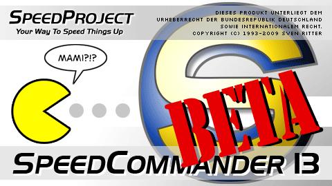 Startbildschirm von SpeedCommander 13 (Öffentliche Beta)