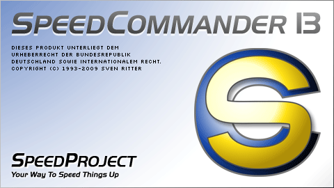 Startbildschirm von SpeedCommander 13