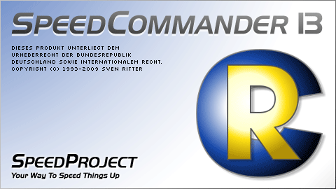 Startbildschirm von SpeedCommander 13 (RC)
