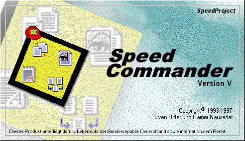 Startbildschirm von SpeedCommander 5