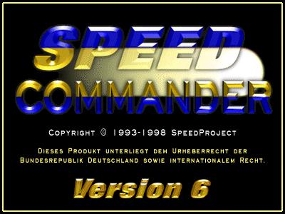 Startbildschirm von SpeedCommander 6