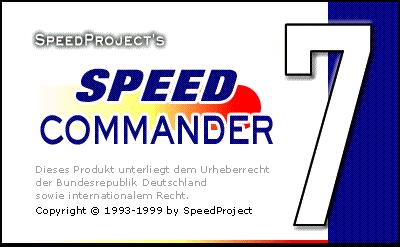 Startbildschirm von SpeedCommander 7