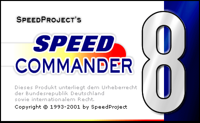 Startbildschirm von SpeedCommander 8