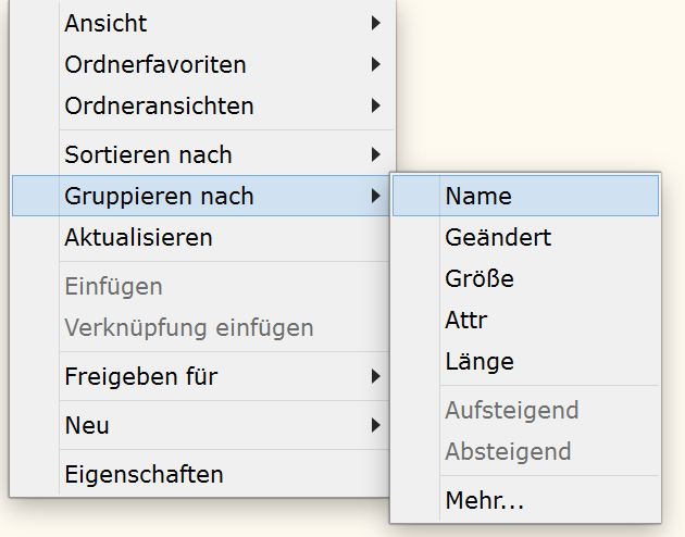 Gruppierung in SpeedCommander 16