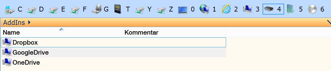 Zugriff auf Dropbox, Google Drive und OneDrive