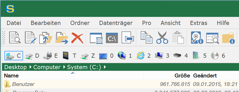 Office 2016-Stil in Grün