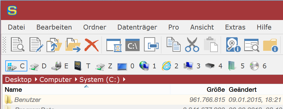 Office 2016-Stil in Rot