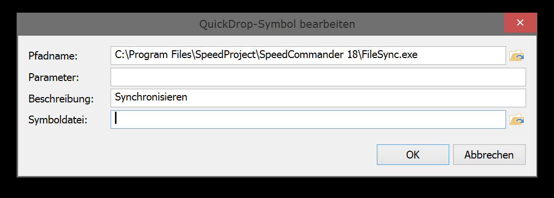 QuickDrop-Symbol bearbeiten